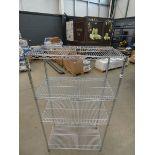Chrome 3 shelf rack