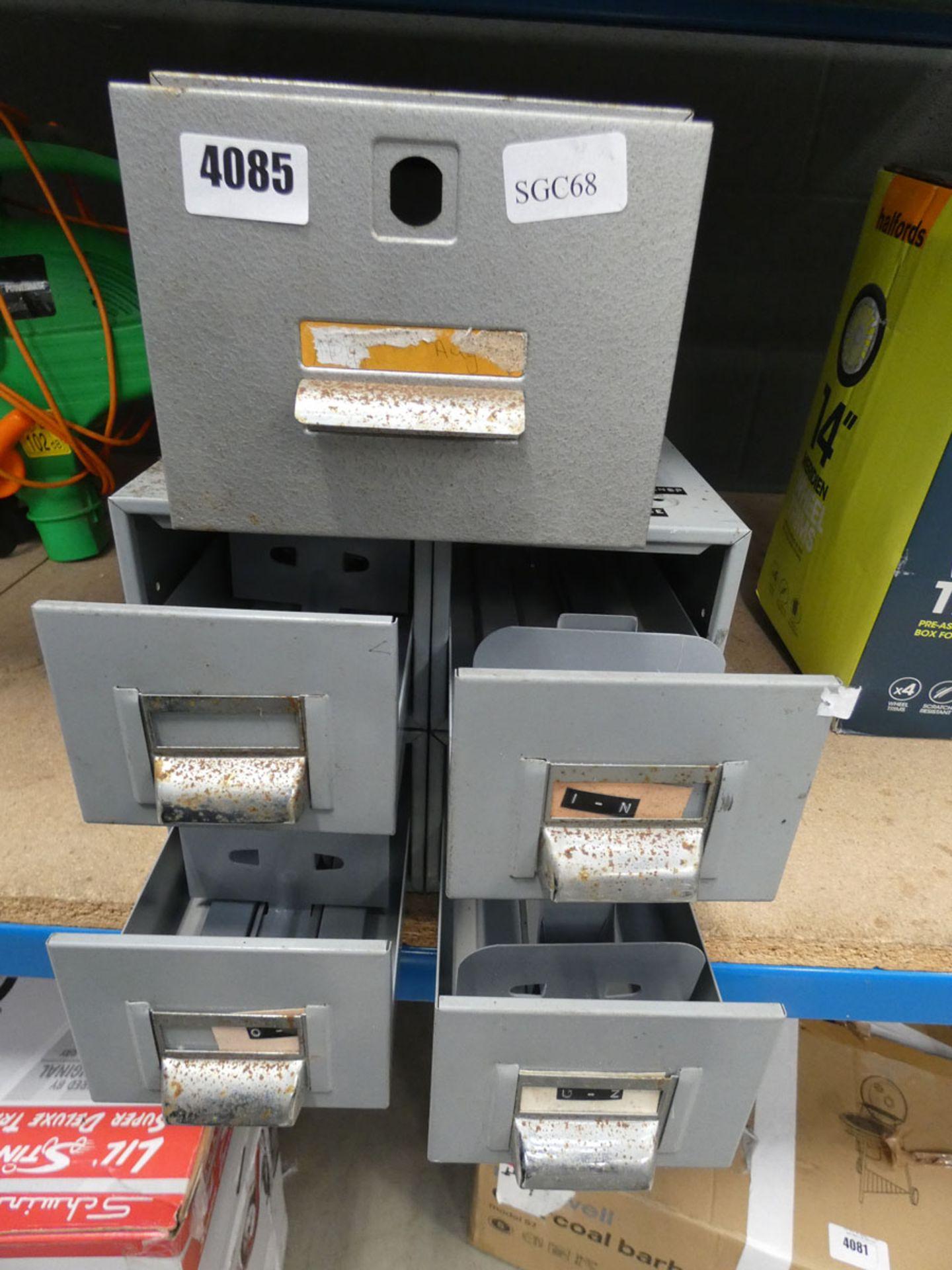 2 metal file card trays