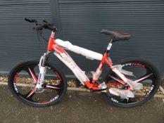 27 speed 26'' wheel mountain bike in red