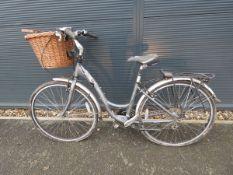 Trek blue ladies bike with front basket