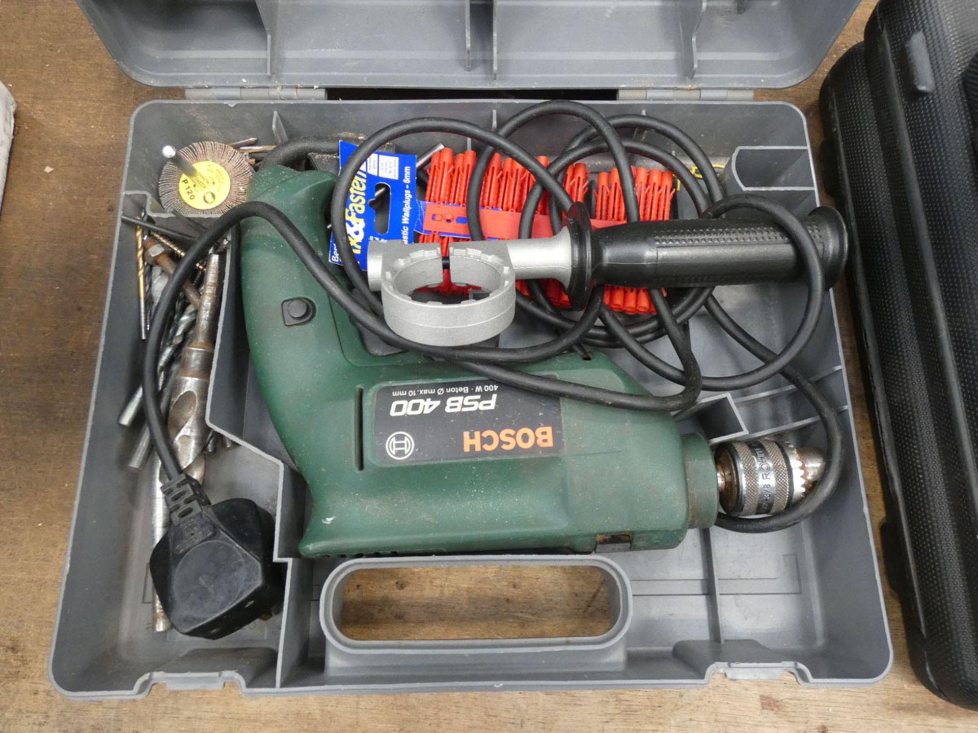 Newtool screwdriver set, Bosch drill, mini grinding heads and a drill bit set - Image 3 of 6