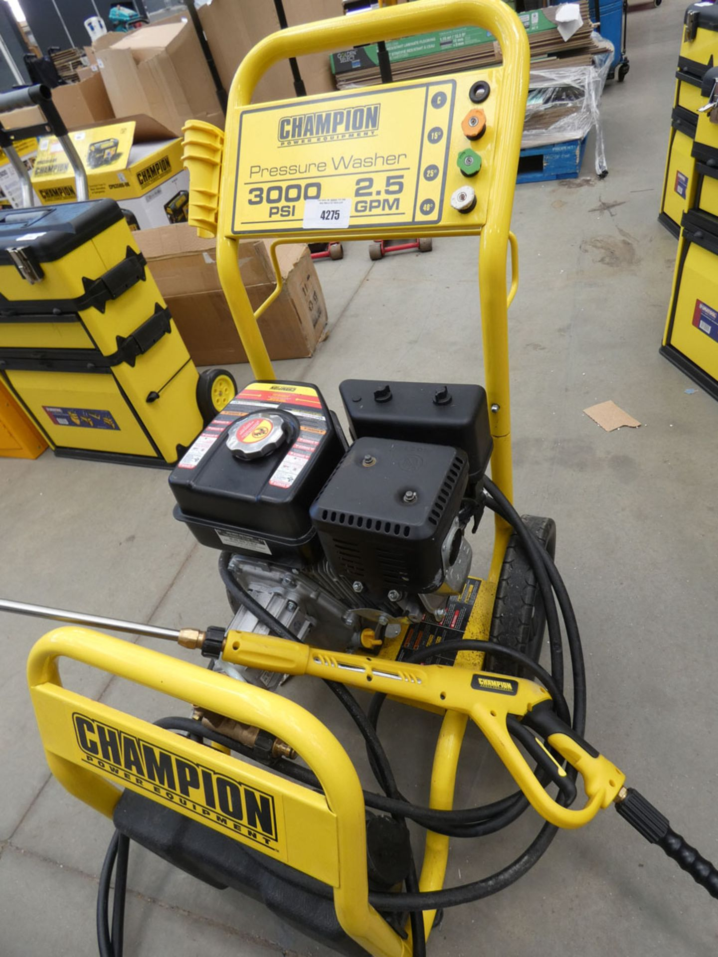 Champion petrol powered pressure washer - Image 2 of 2