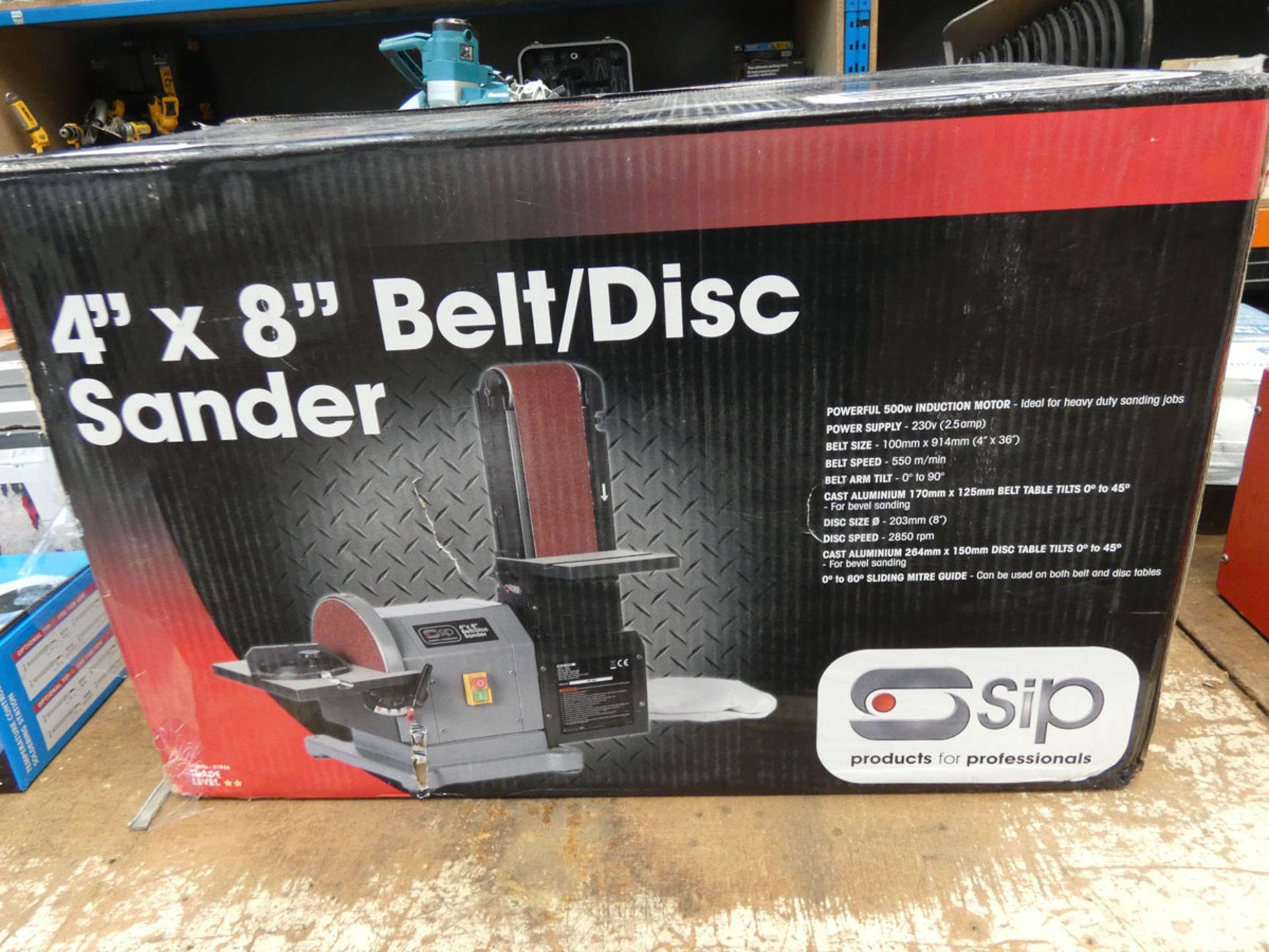 Boxed SIP 4'' and 8'' belt/disc sander