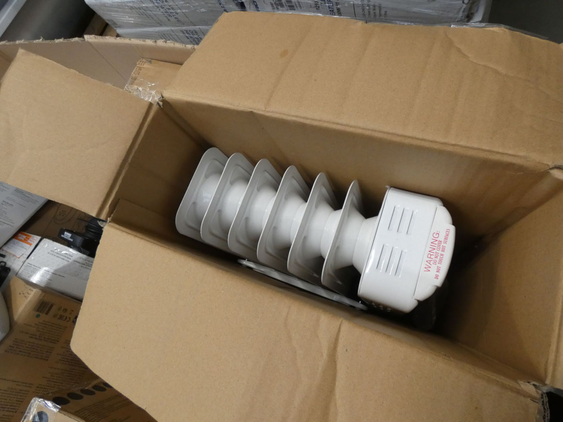 Large pallet box containing approx. 10-12 oil filled radiators and electric heater - Image 2 of 3