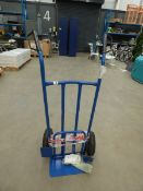 Blue 2 wheel sack truck (bent axle)