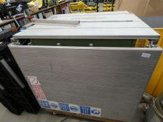 4479 Large table saw Elektra Beckum PK250 circular saw, cable cut, no plug. 89cm x 73cm plus 71cm