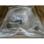 Boxed square stainless steel sink