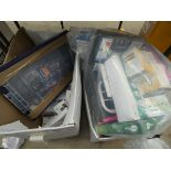 2 boxes containing bulbs, switches, sockets, snap circuits etc.