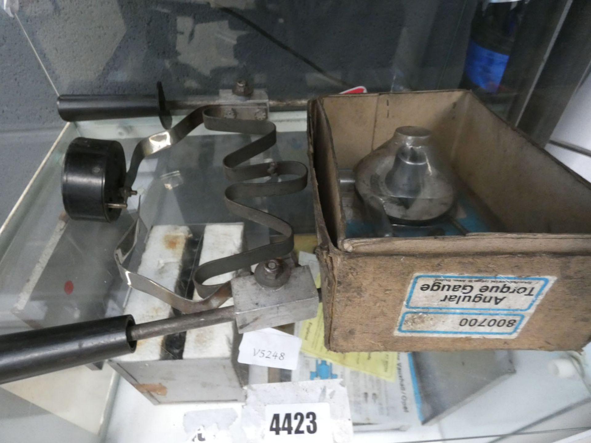 Sykes-Pickavant angular torque gauge and a battery tester