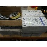 7 boxes of angle grinder stone discs