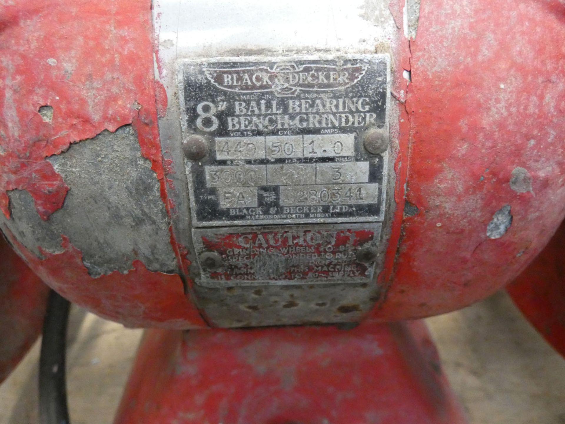 Large Black & Decker 8'' double ended bench grinder - Image 4 of 4