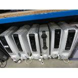 6 unboxed Delonghi large oil filled radiators