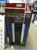 Boxed Meaco portable air cooler Turns on and blows, looks complete.