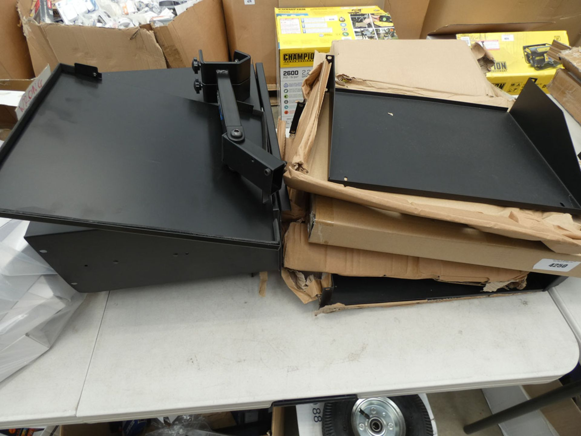2 comms cabinet drawers and quantity of comms cabinet shelves