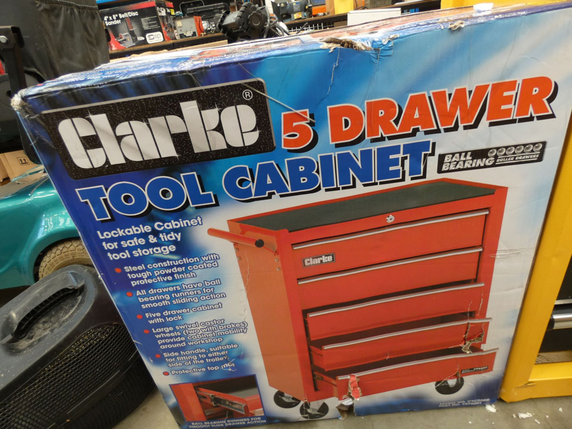 Boxed Clarke 4 drawer tool cabinet