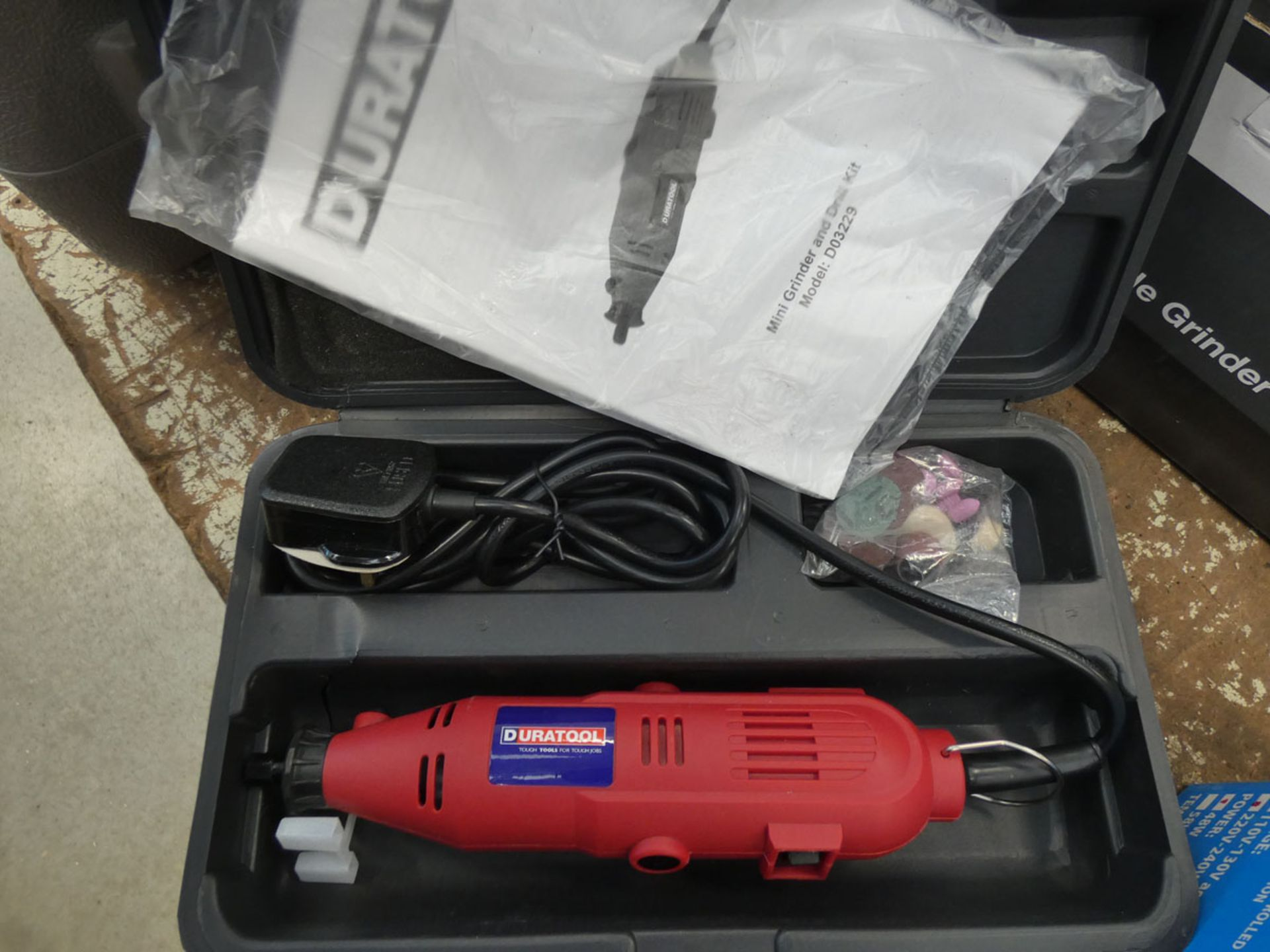 Boxed mini grinder and drill kit and a temperature control soldering station - Image 2 of 3