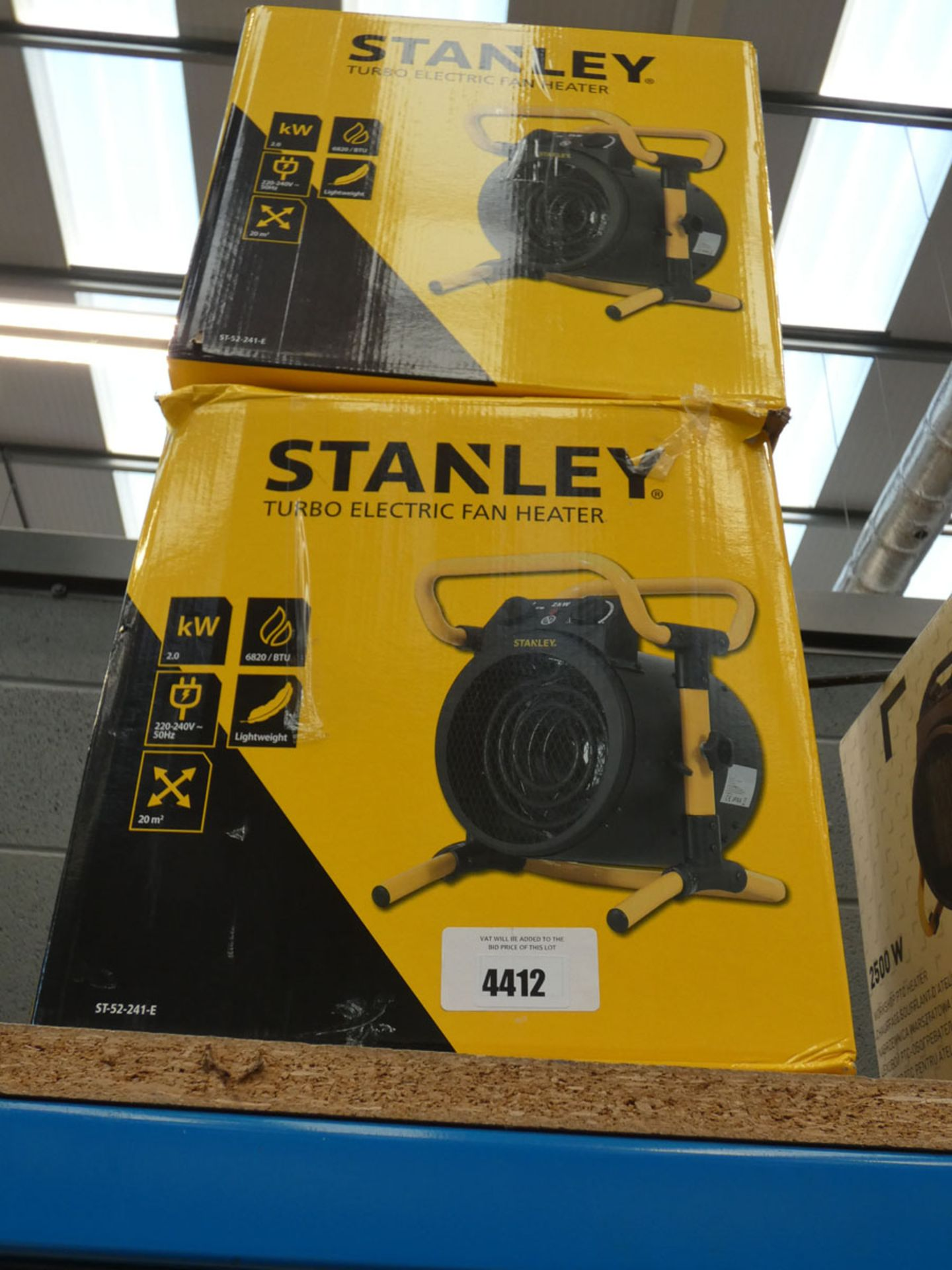 2 boxed Stanley heaters