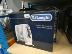 4 small boxed Delonghi oil filled radiators
