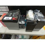 5 assorted 12v batteries