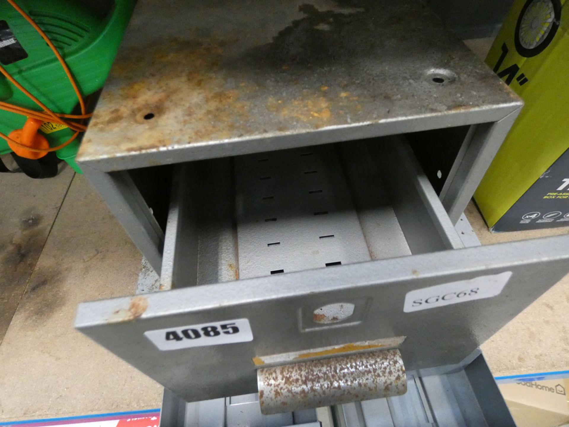 2 metal file card trays - Image 2 of 3