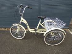 Scout yellow folding tricycle