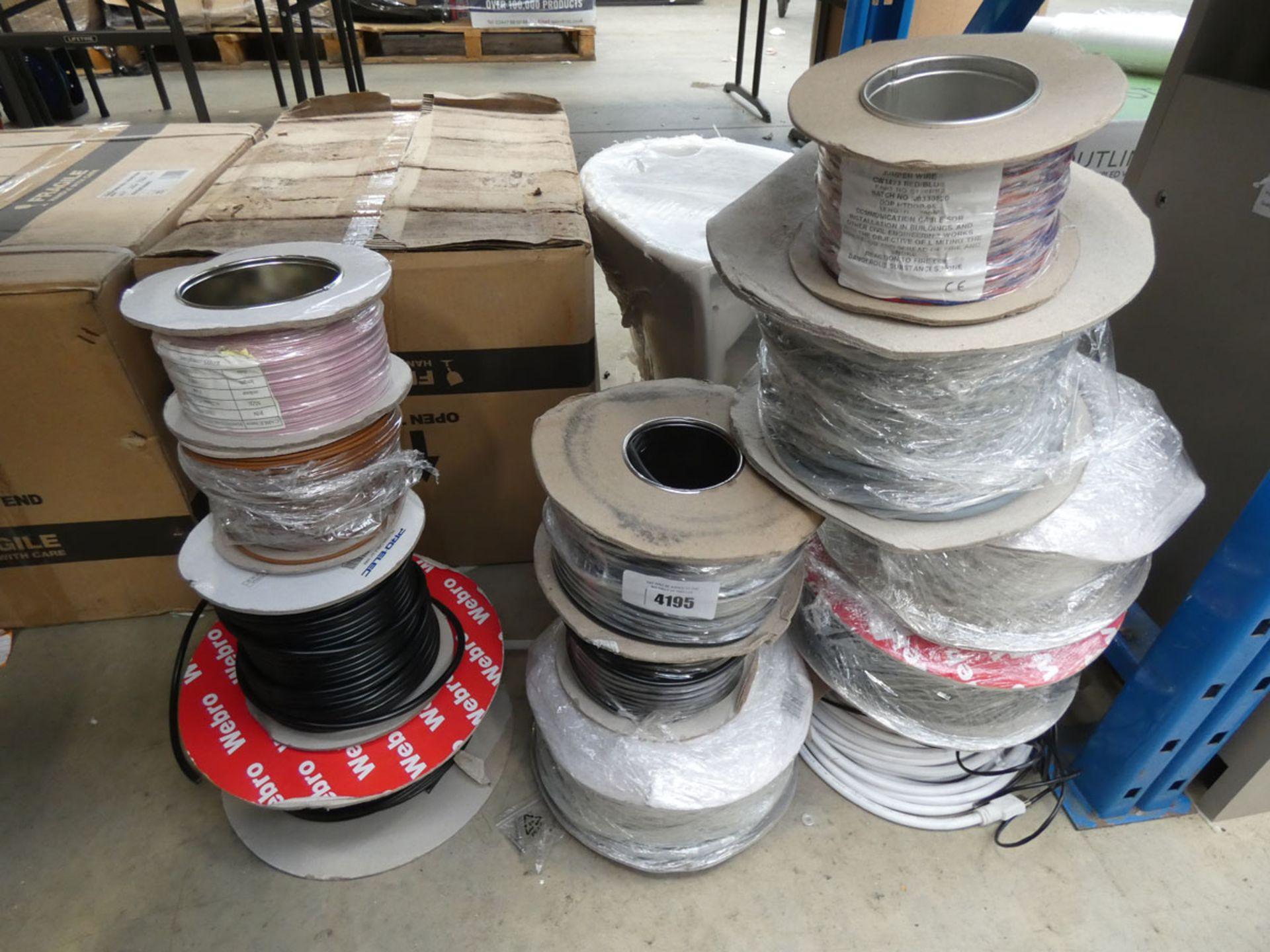 12 rolls of assorted cable