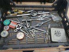 Tray of taps and dies
