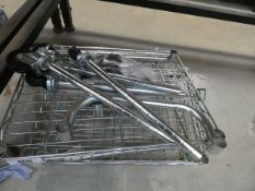 Small flatpack chrome rack