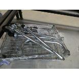 Small flatpack chrome rack