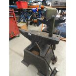 Large anvil with stand and accessories