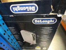 2 large Delonghi boxed oil filled radiators