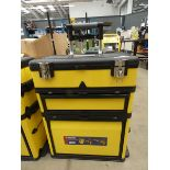 Duratool yellow and black wheeled toolbox