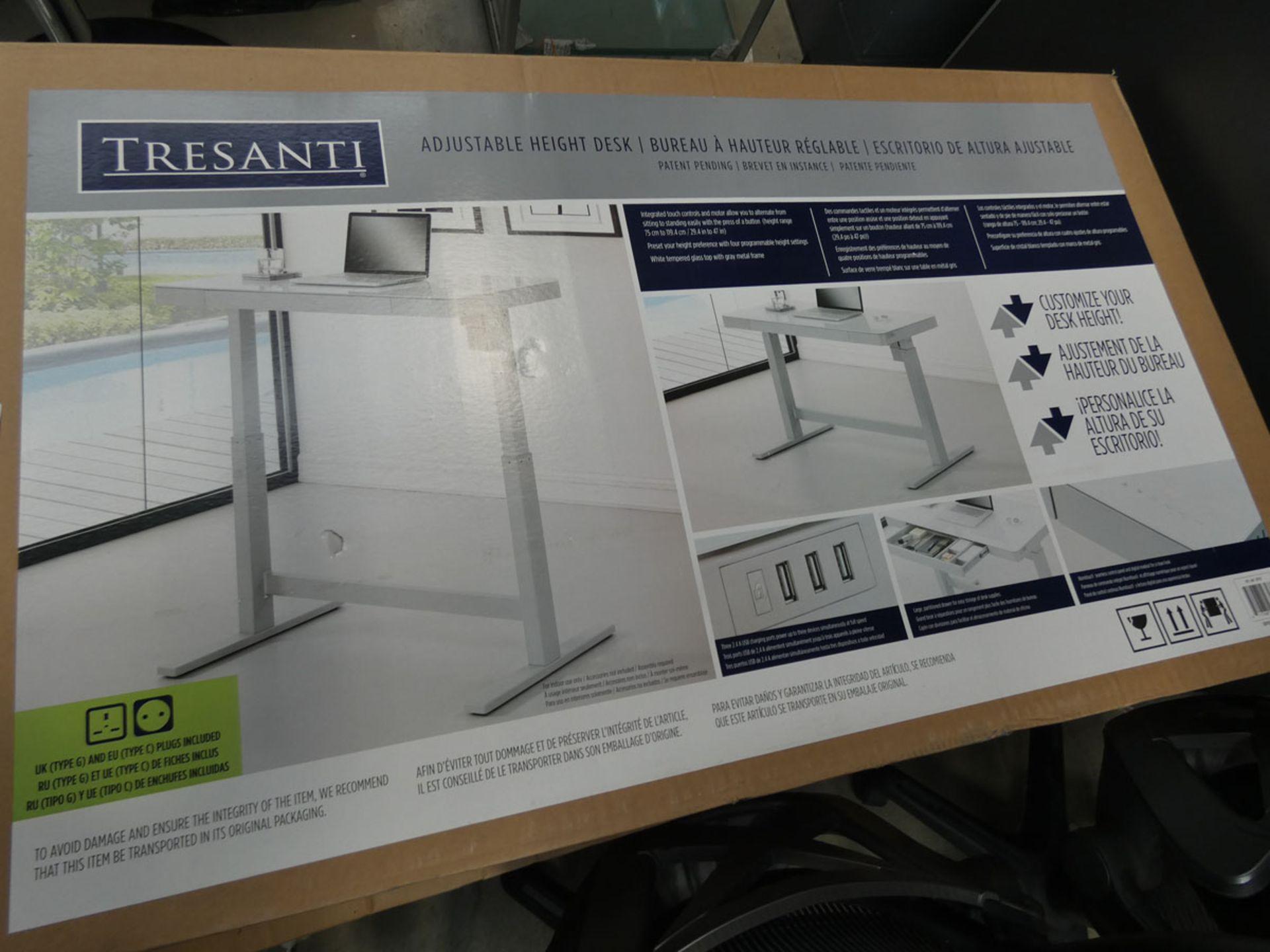 Tresanti boxed Rise and Fall desk