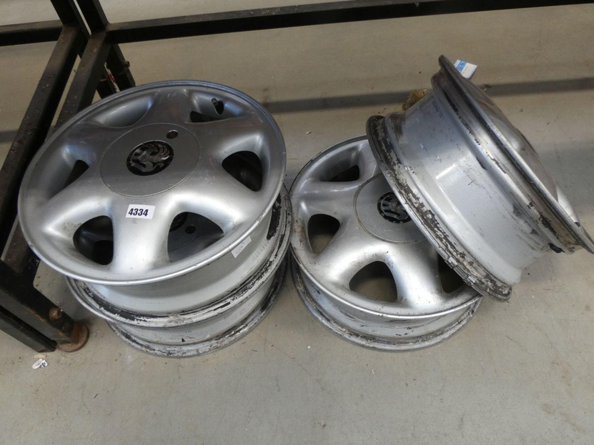 4 Vauxhall alloy wheels