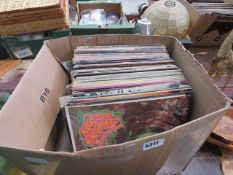 Box containing vinyl records