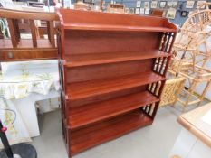 Beech waterfall fronted open bookcase