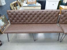 5532 Brown studded back bench seat (137)