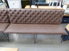 5531 Brown studded back bench seat (137)