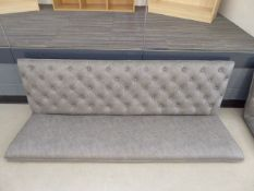 5535 Grey studded back bench sea, (no legs, no fixings)