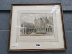 Framed and glazed engraving: Holland House, Middlesex