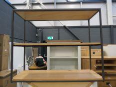 5085 - (146) Modern metal frame 3 tier display shelf/bookcase