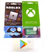 Various Gaming & Digital (x5) - Total face value £65