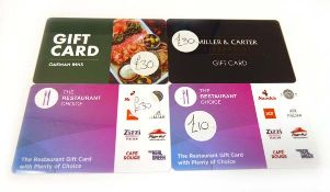 Various : Dining (x4) - Total face value £100