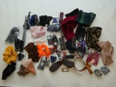 Selection of accessories to include umbrella, gloves, scarfs, etc (approximately 40 items)