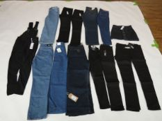 Selection of denim wear to include Atlier & Other stories, Levi, G72 Denim, etc (quantity of 13
