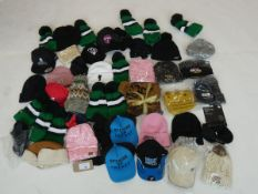 Selection of hats in various styles (approximately 45 items)