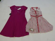 Damsel in a Dress clothing to include Pascal stripe dress size 10 and Delilah button dress size 16