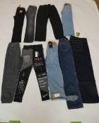 Selection of denim wear to include JK Attire, Levi, Superdry, etc (quantity of 9 items)
