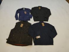 Selection of Mantaray clothing to include body warmer and knitwear sizes XL and XXL (quantity of 4