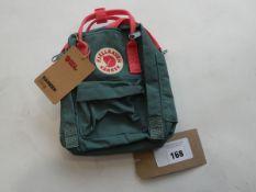 Fjall Raven Kanken sling bag in forest green pink